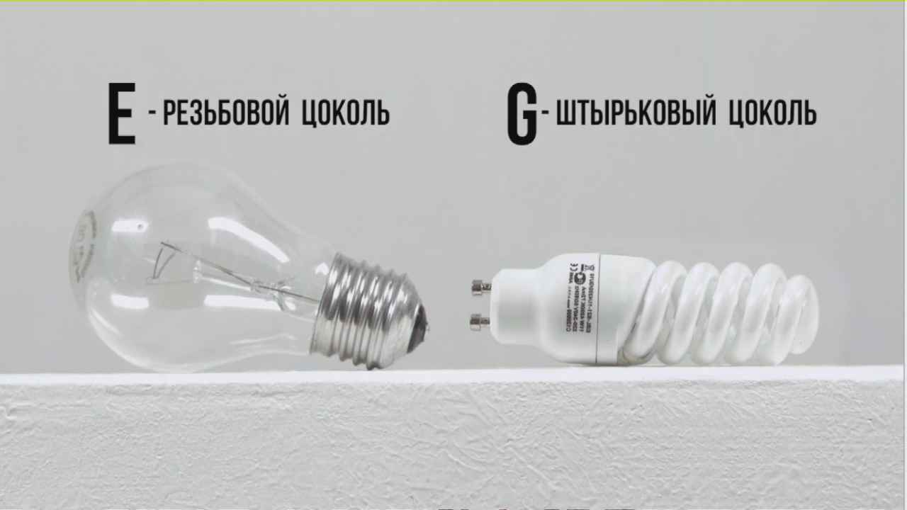 Замена лампы накаливания и патрона