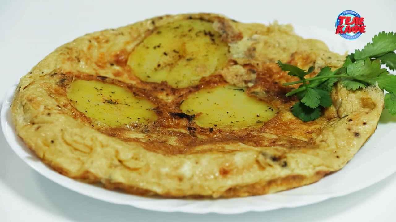 Тортилья из картофеля с кабачками