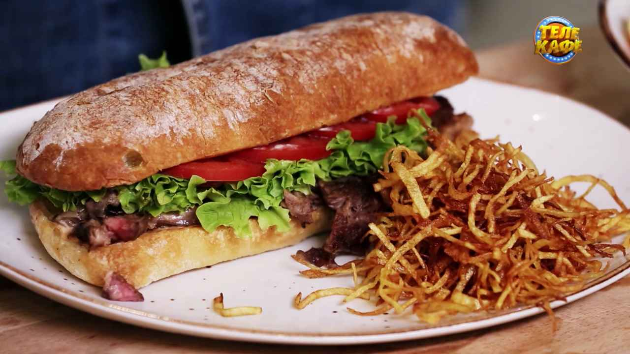Сэндвич со стейком