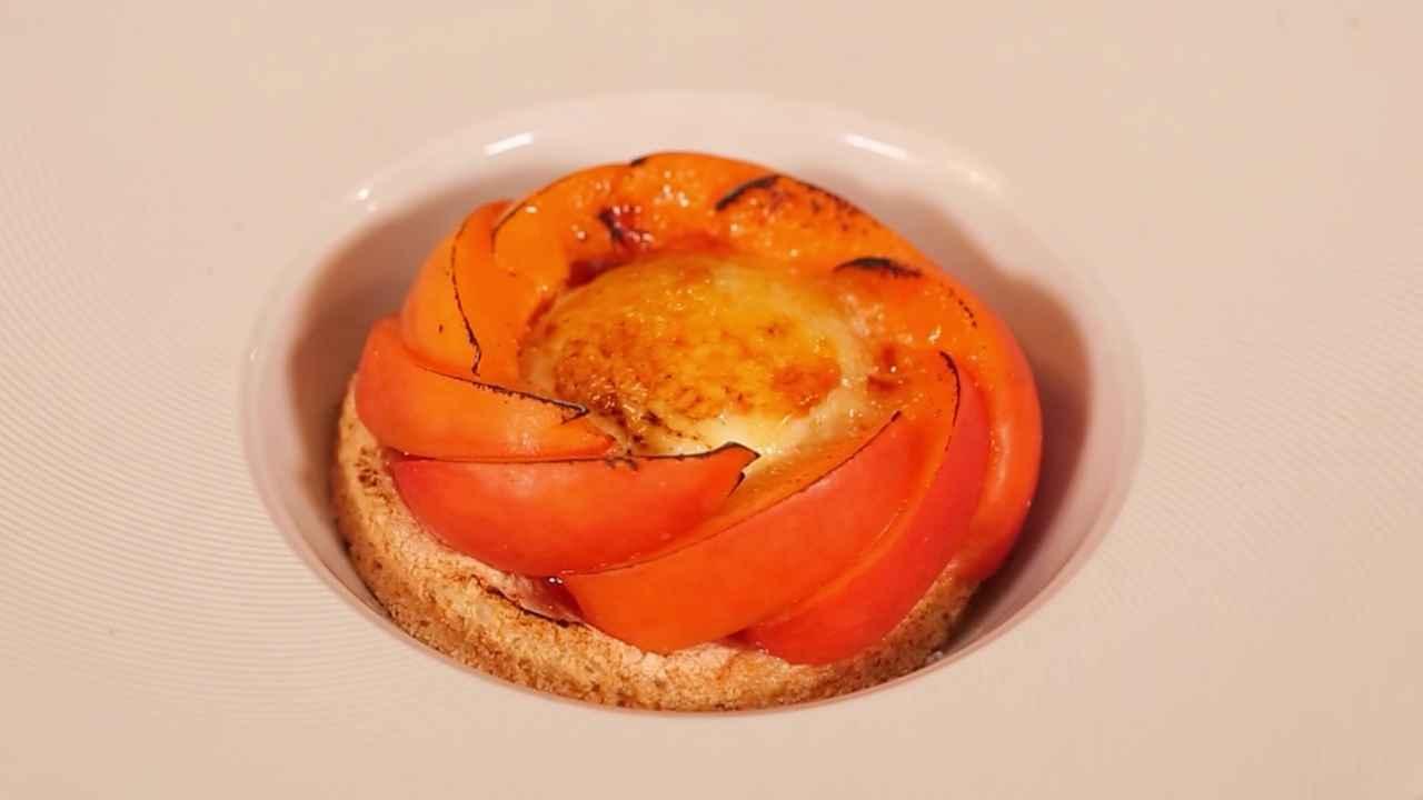 Десерт «Крем-брюле с абрикосовым вареньем»