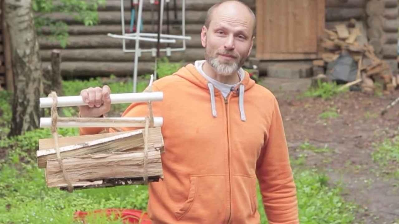 Приспособление для переноски дров