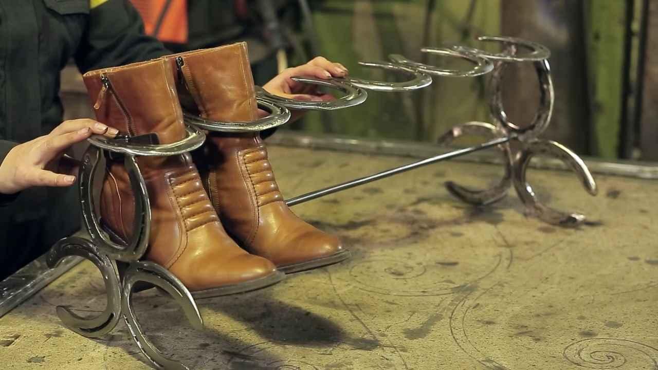Полка для обуви из подков