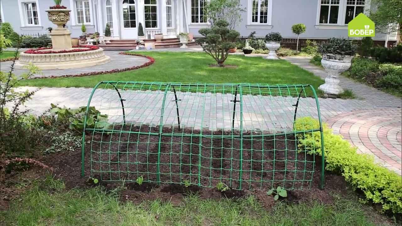 Двухуровневая грядка для зелени и огурцов