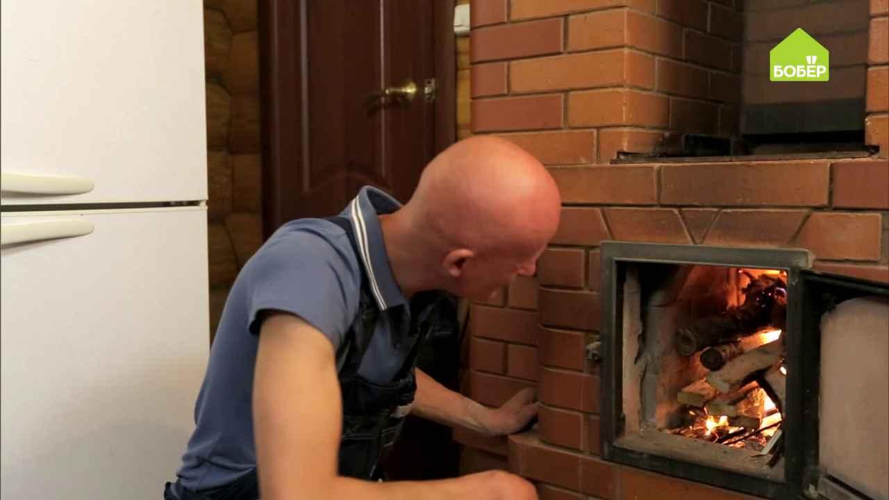 Как правильно заложить дрова в печь