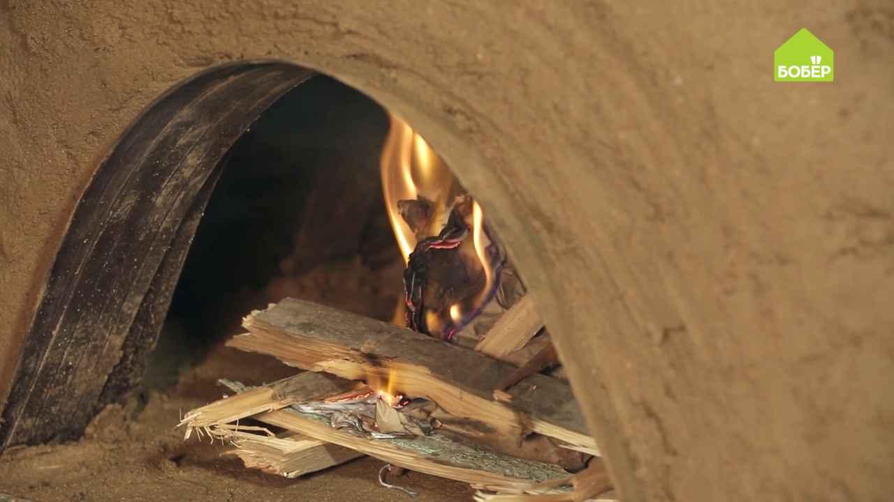 Выгоняем влагу из новой глиняной печки