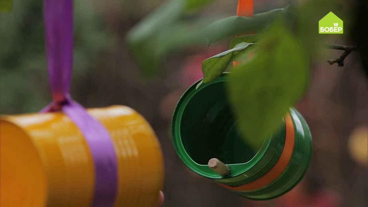 Кормушки для птиц из жестяных банок