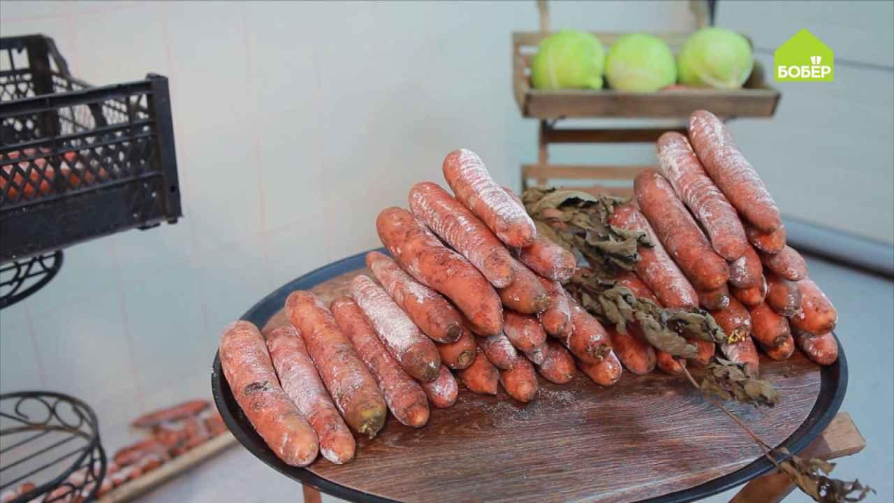 Два способа хранения моркови