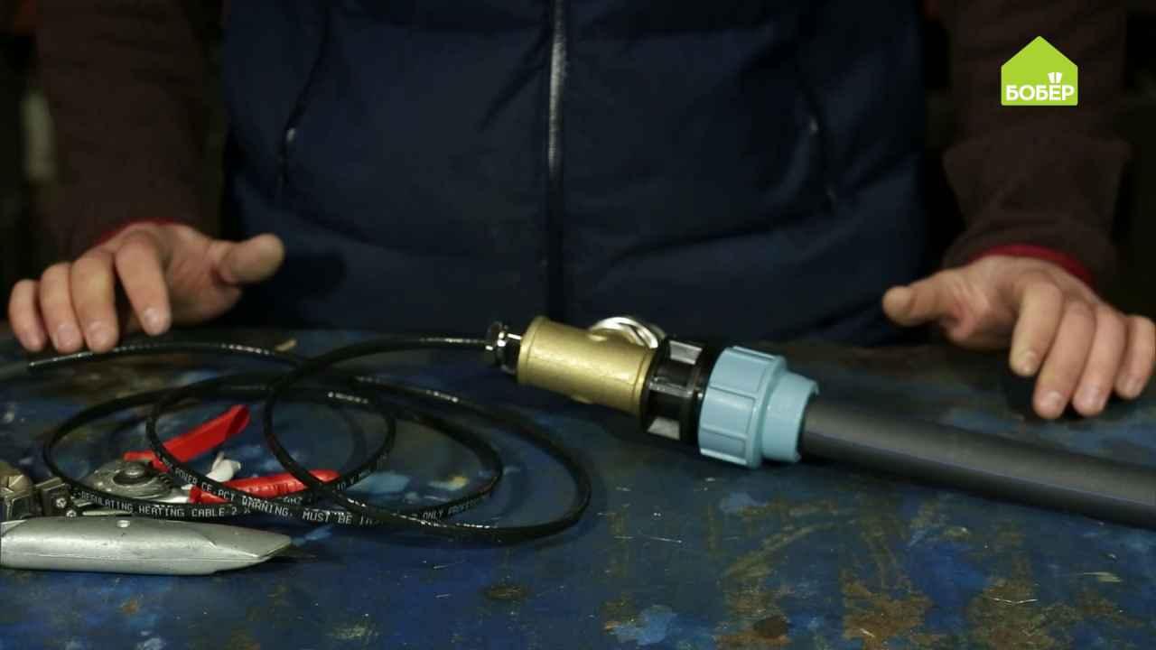 Как подготовить греющий кабель для канализации к монтажу