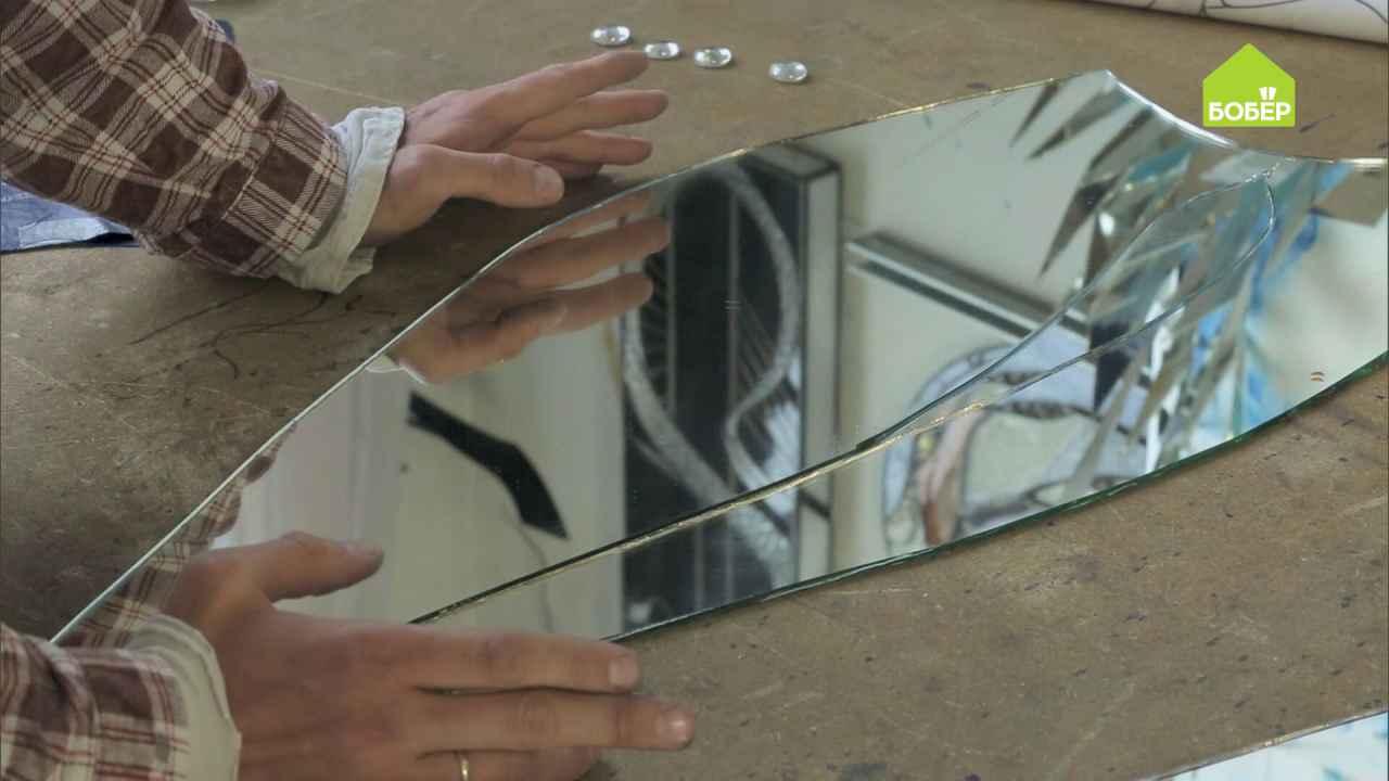 Как правильно делать фигурную резку зеркала