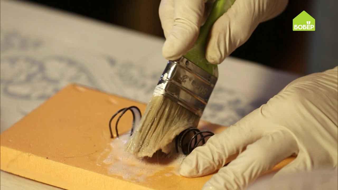 Как вымыть малярные кисти