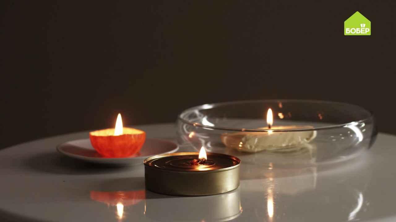 Лайфхаки: делаем свечи