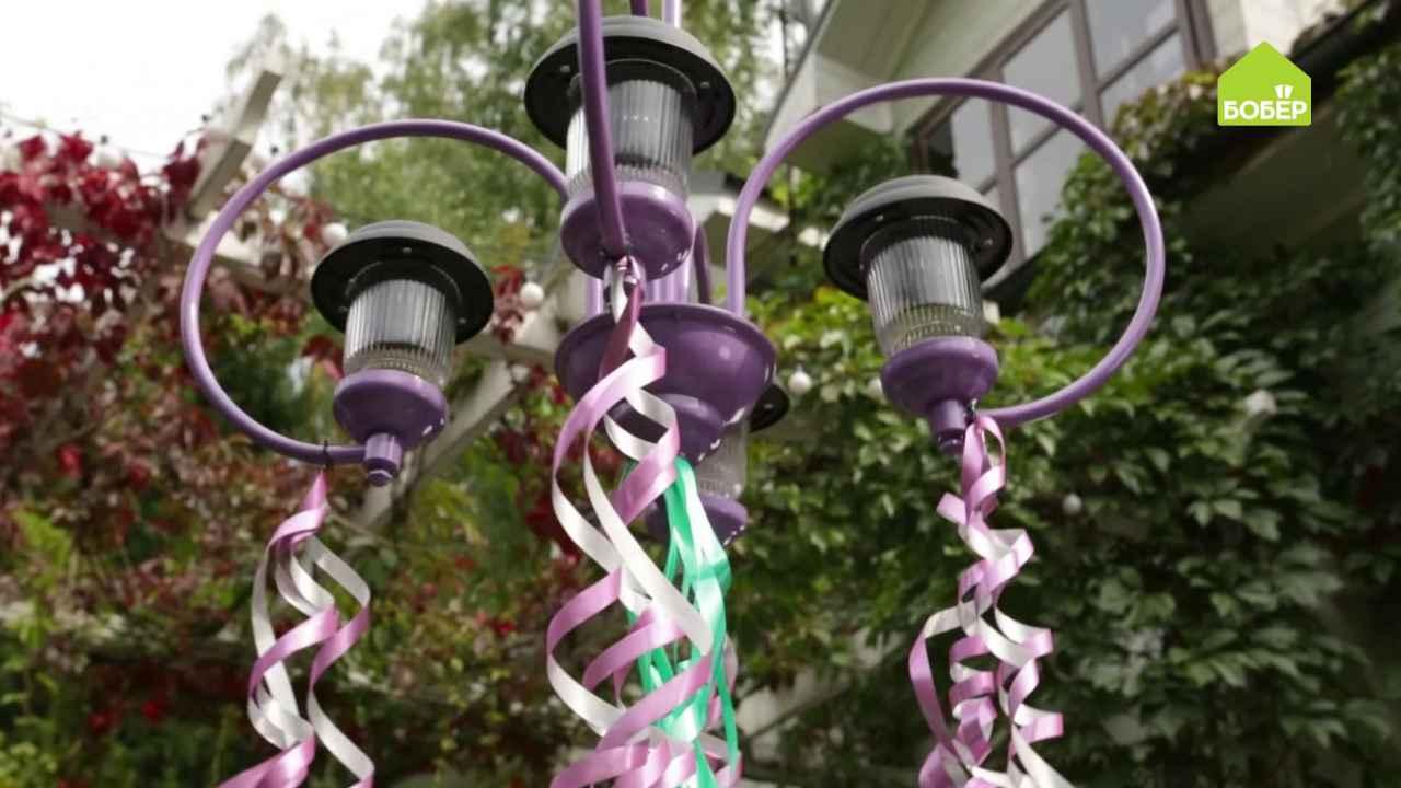 Садовый светильник на солнечных батарейках