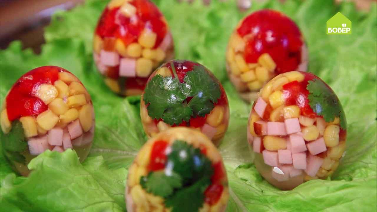 Заливные яйца к праздничному столу