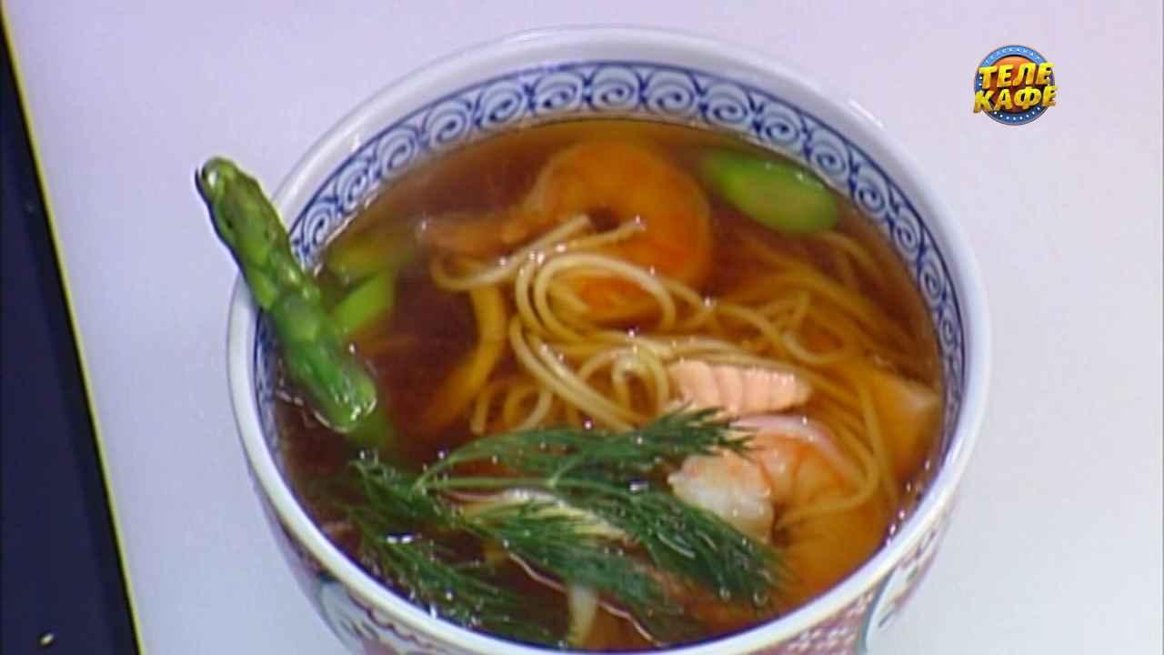 Лёгкий японский суп с морепродуктами