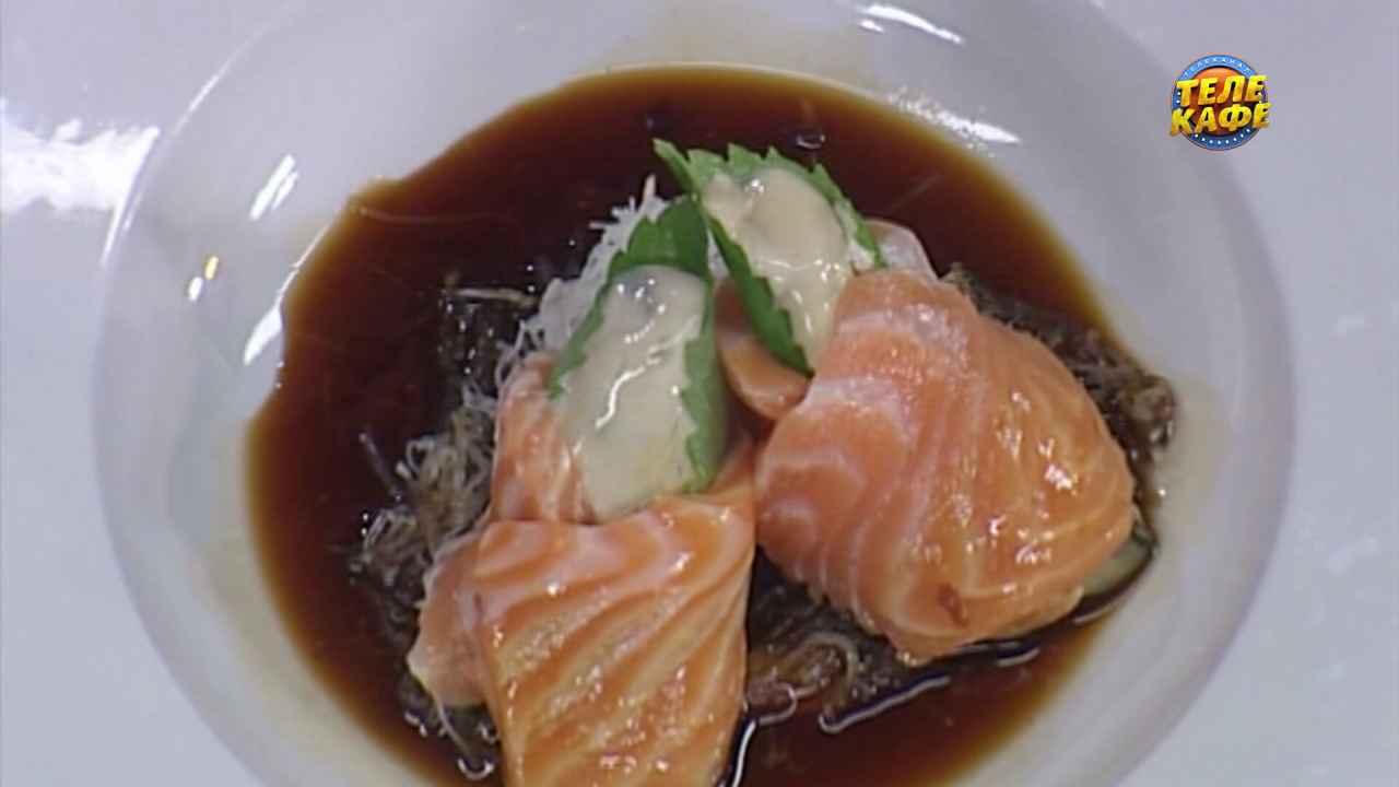 Сашими из лосося и устриц