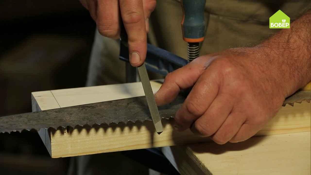 Как правильно заточить ножовку