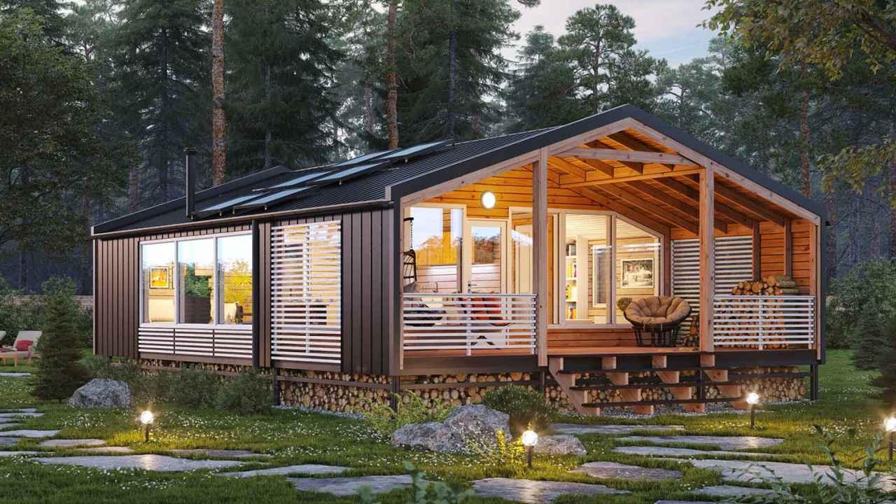 Современный модульный дом изнутри и не только || Экскурсия на выставку домов