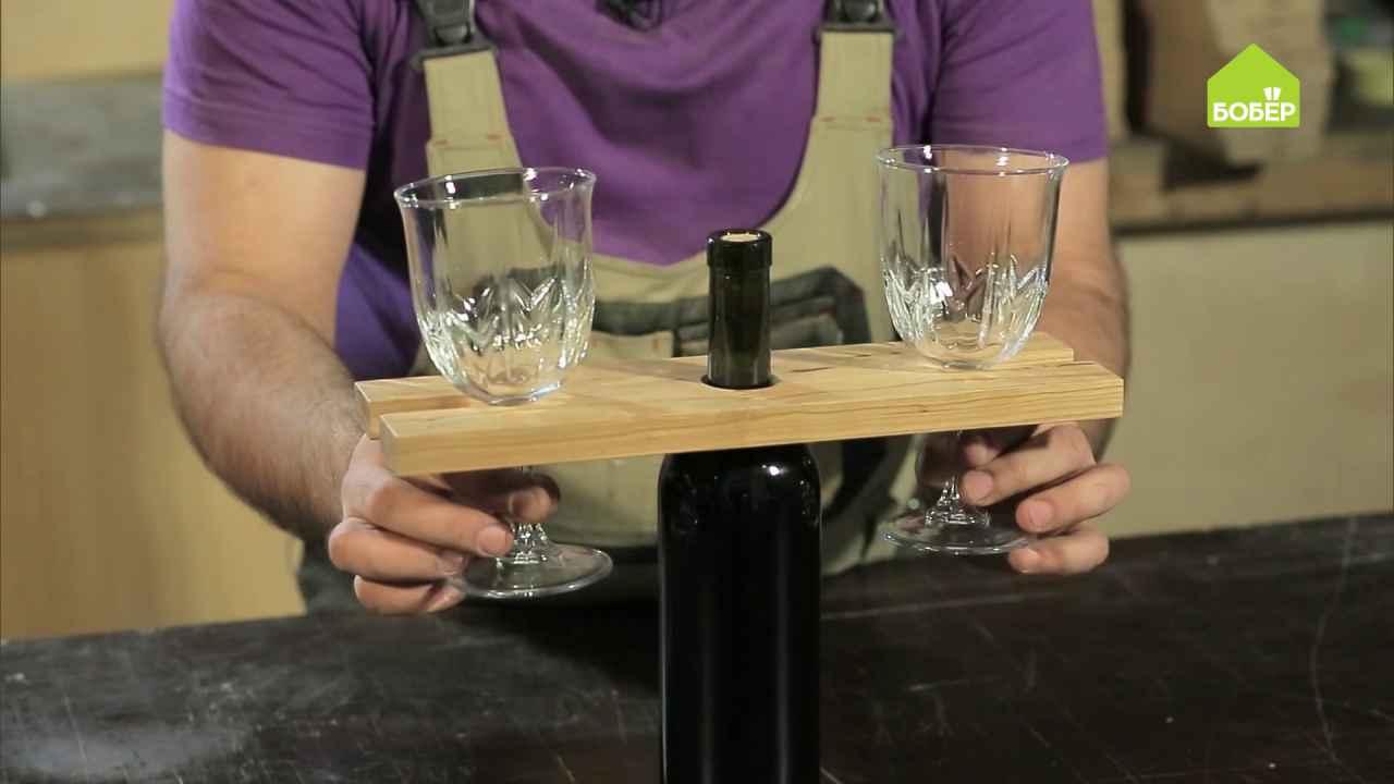 Делаем деревянную подставку для бокалов