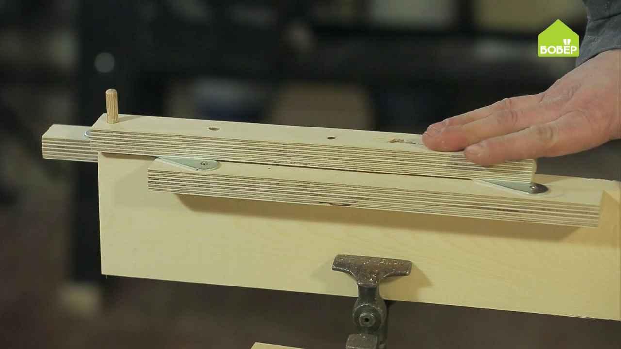 Приспособление для засверливания отверстий в торцевой части деревянной заготовки