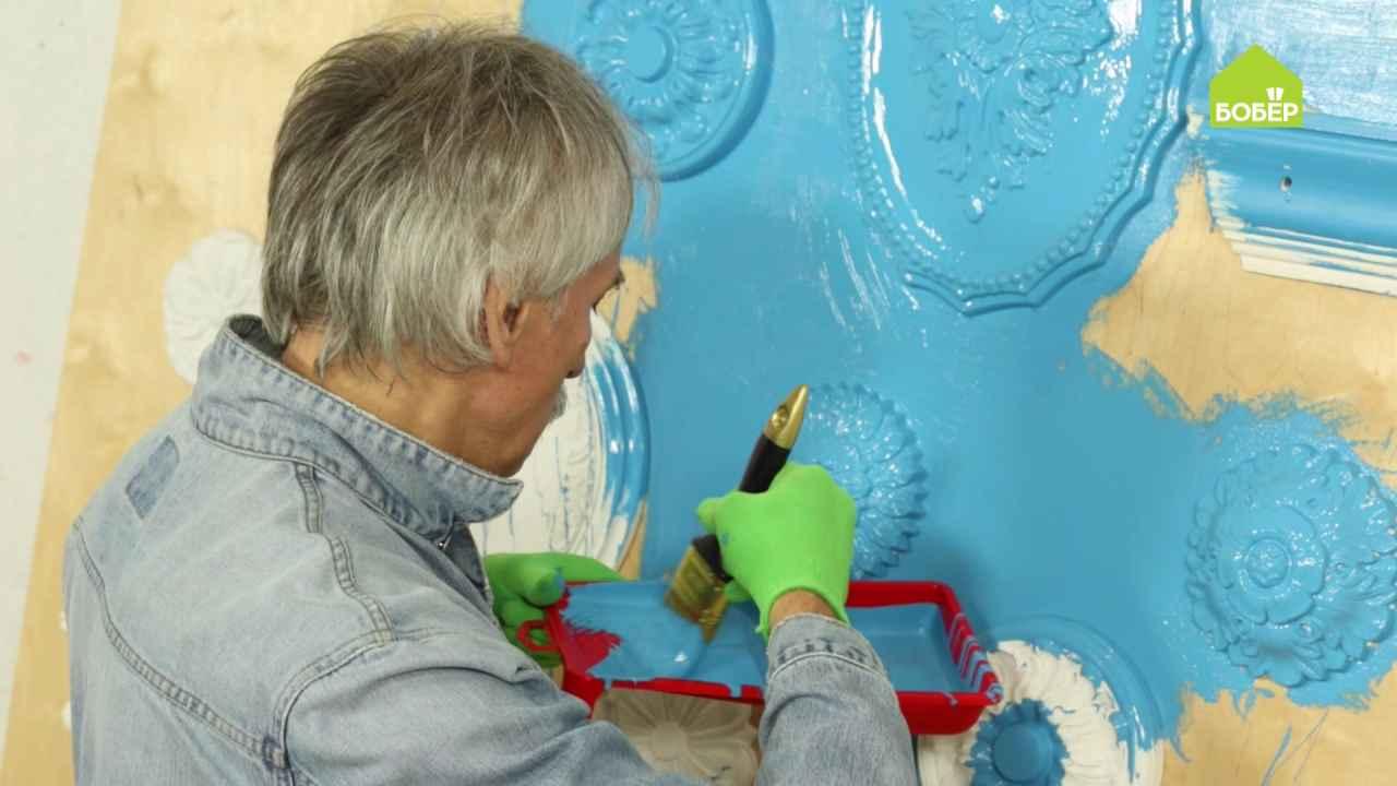 Украшаем стену декоративными элементами из полиуретана
