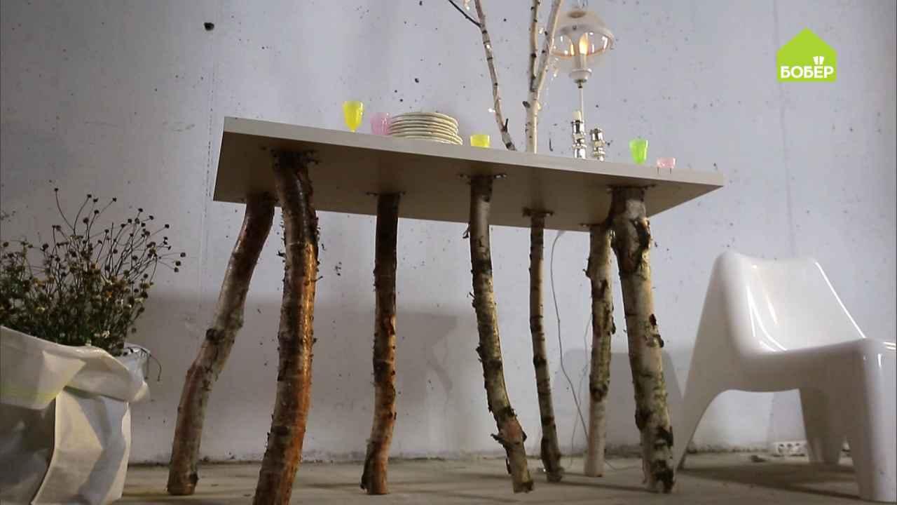 Арт-стол с берёзой