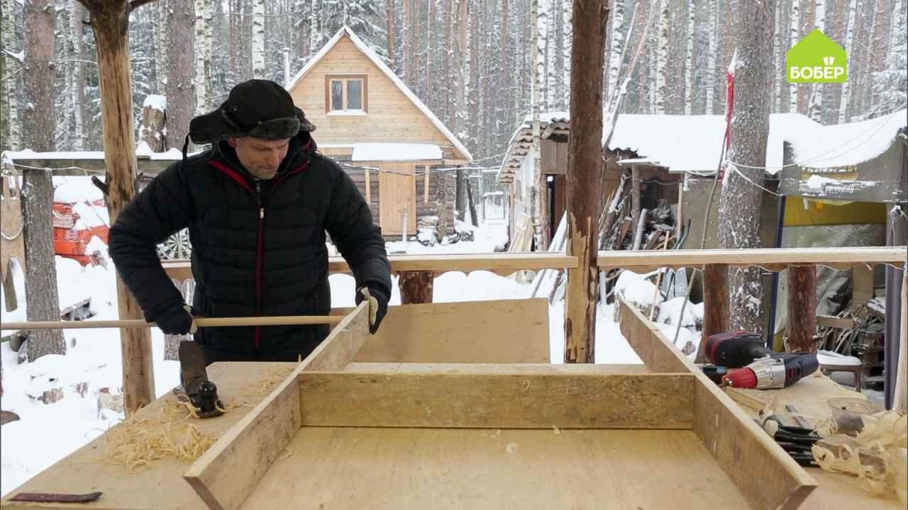 Как сделать скребок для чистки снега