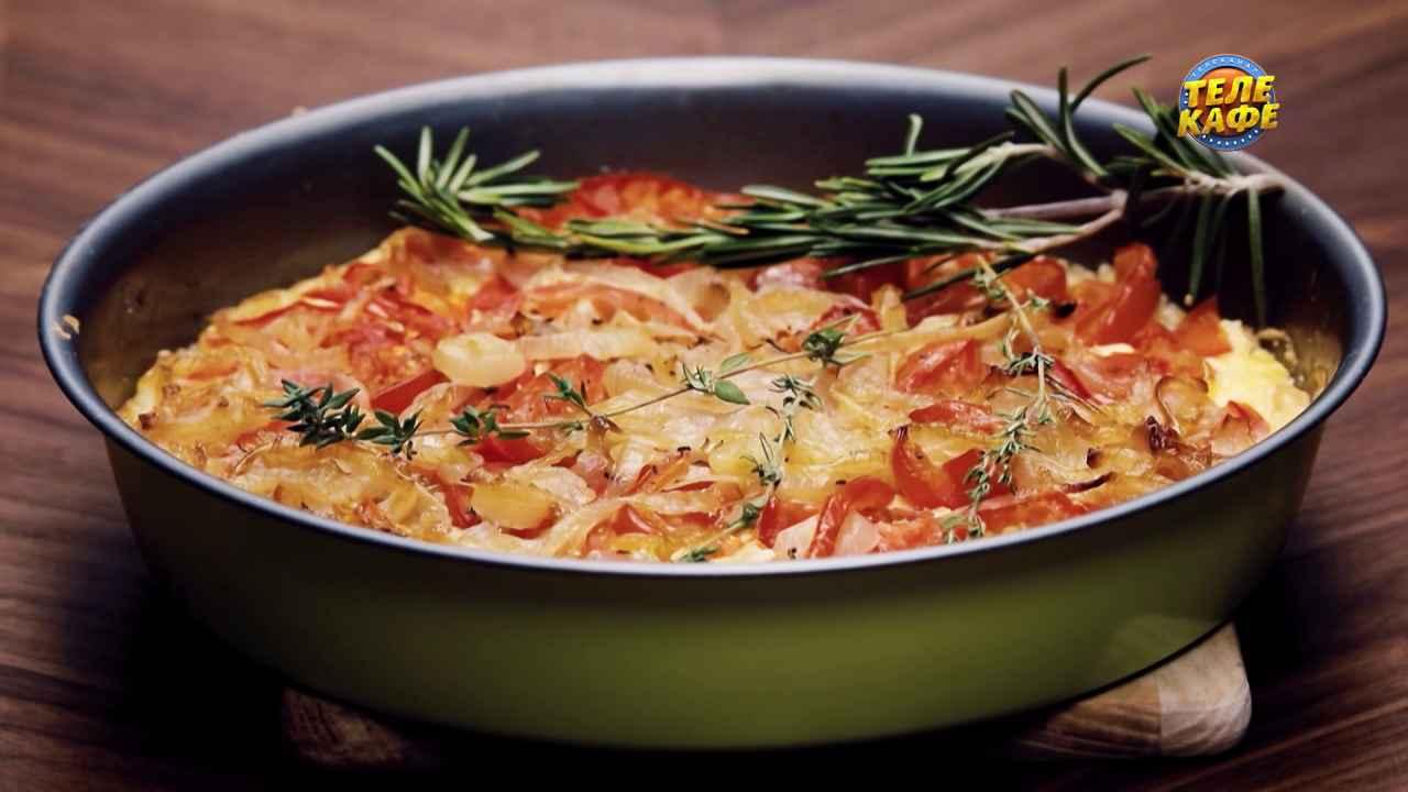Итальянский тарт с помидорами и сливочным сыром