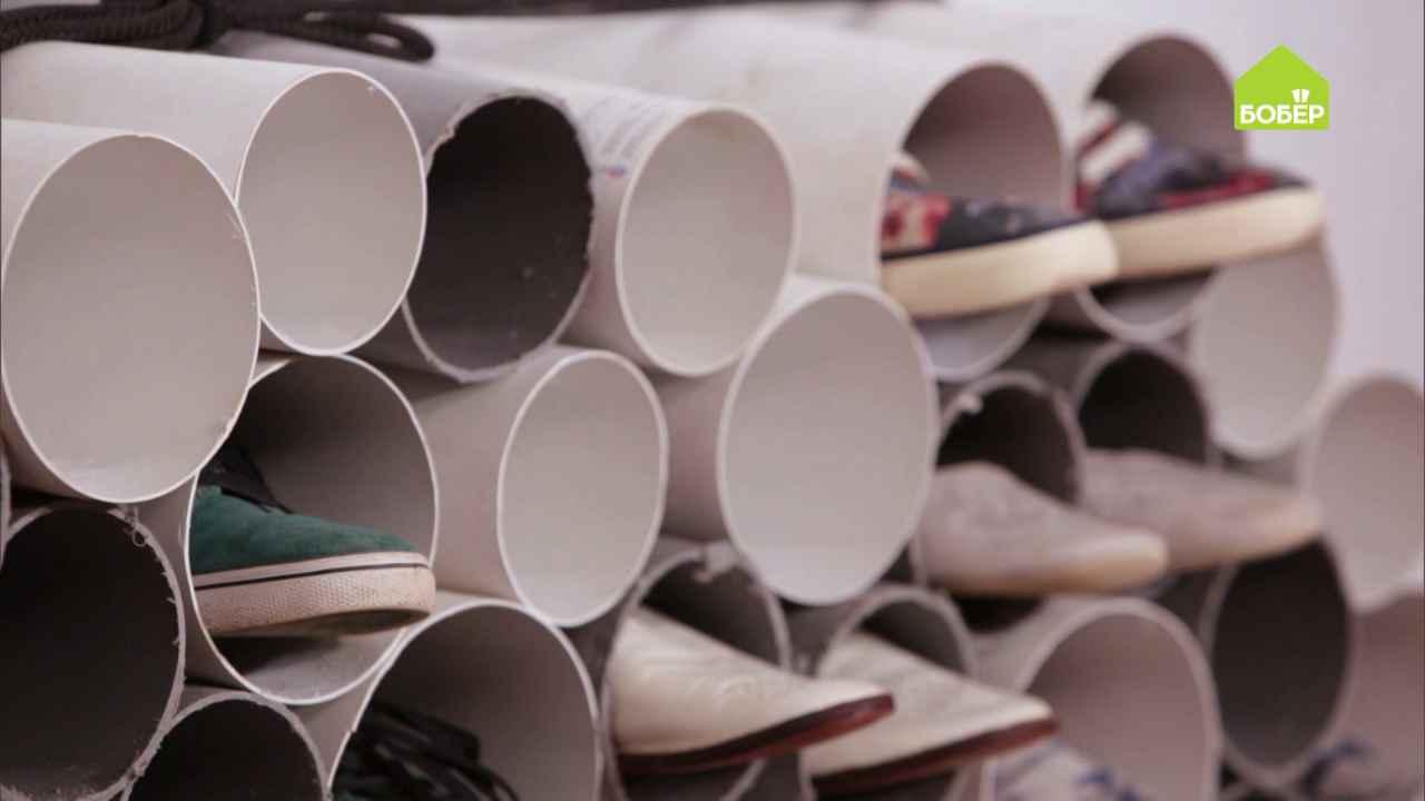 Полочка для обуви из сантехнических труб