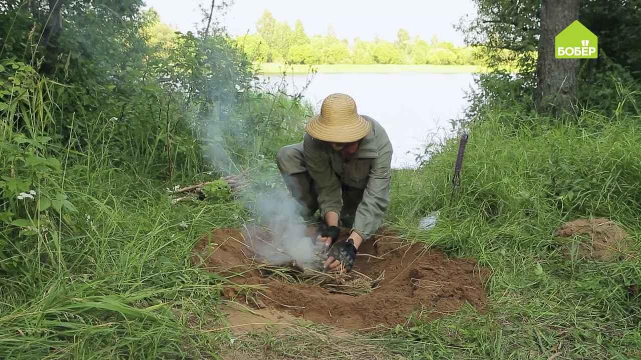 Как подготовить яму для костра