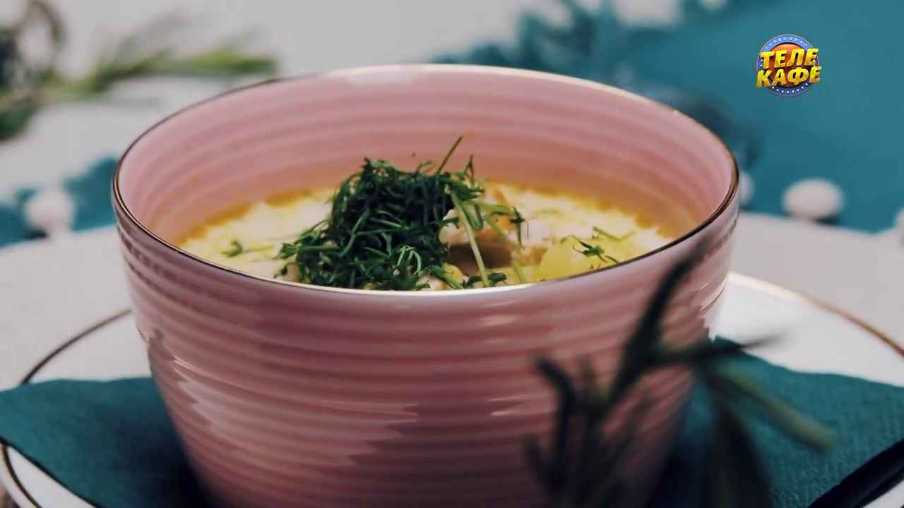 Сырный суп по-французски с курицей