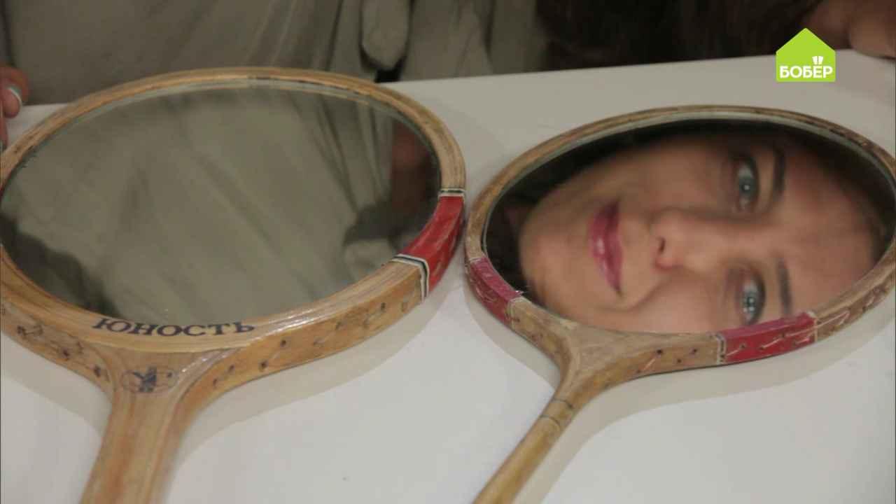 Дизайнерские зеркала из ракеток для бадминтона