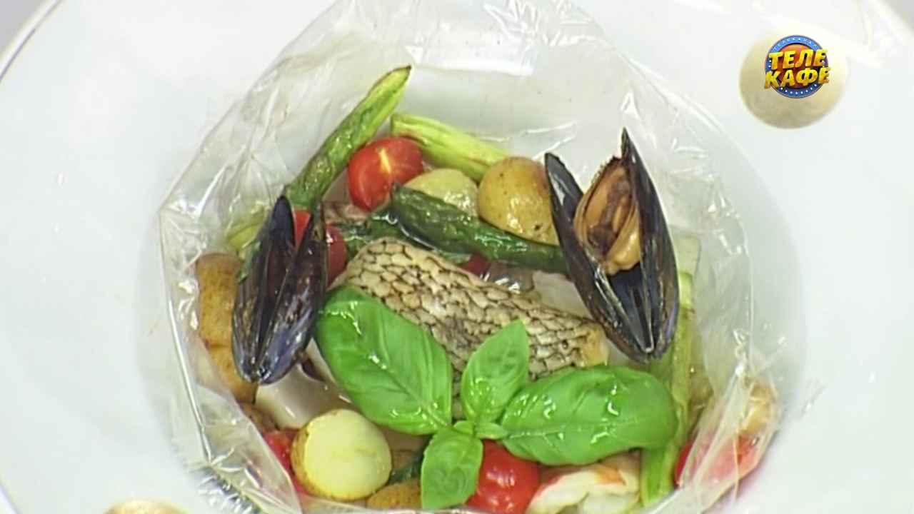 Чилийский сибас с морепродуктами
