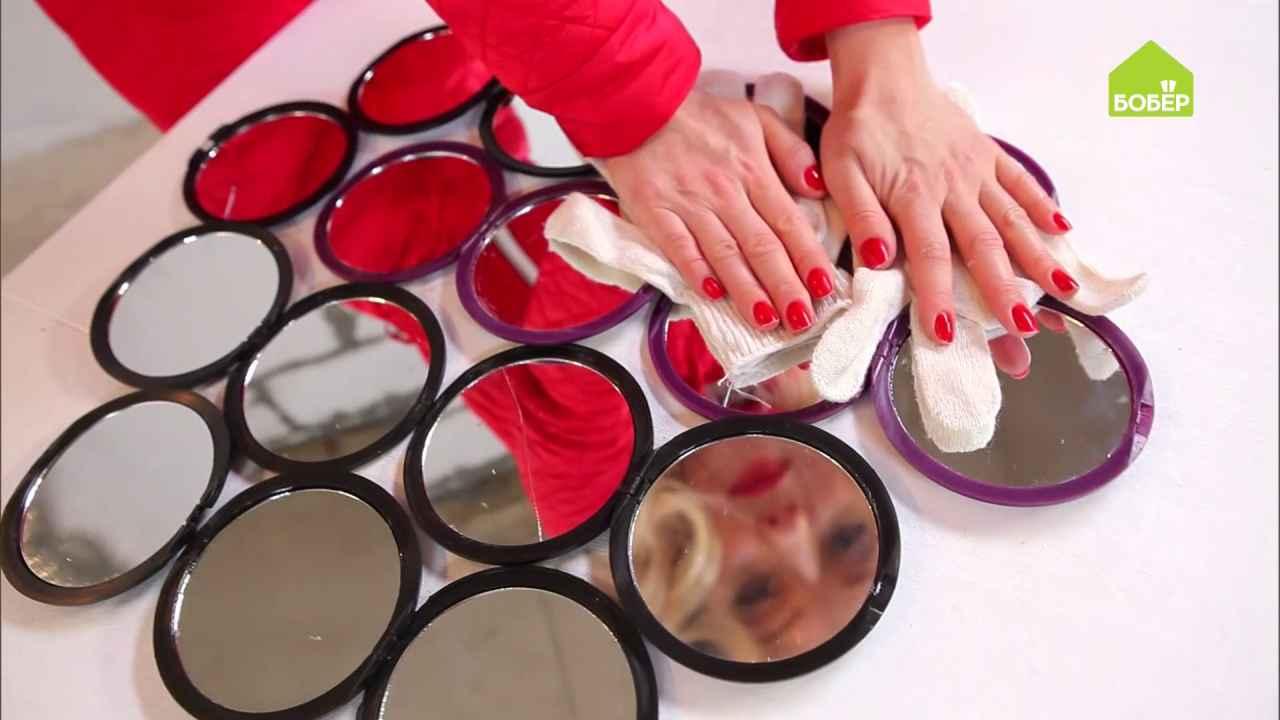 Декоративное панно из карманных зеркал