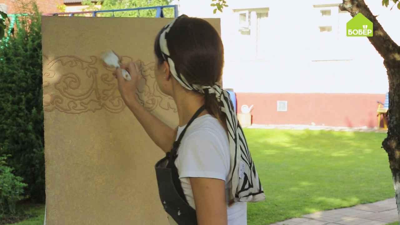Как сделать барельефный рисунок на стене